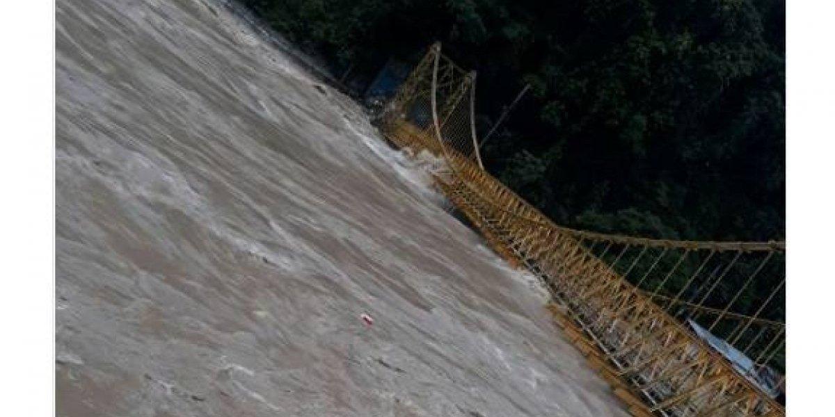 Evacúan a familias de Puerto Valdivia por crecimiento del río Cauca