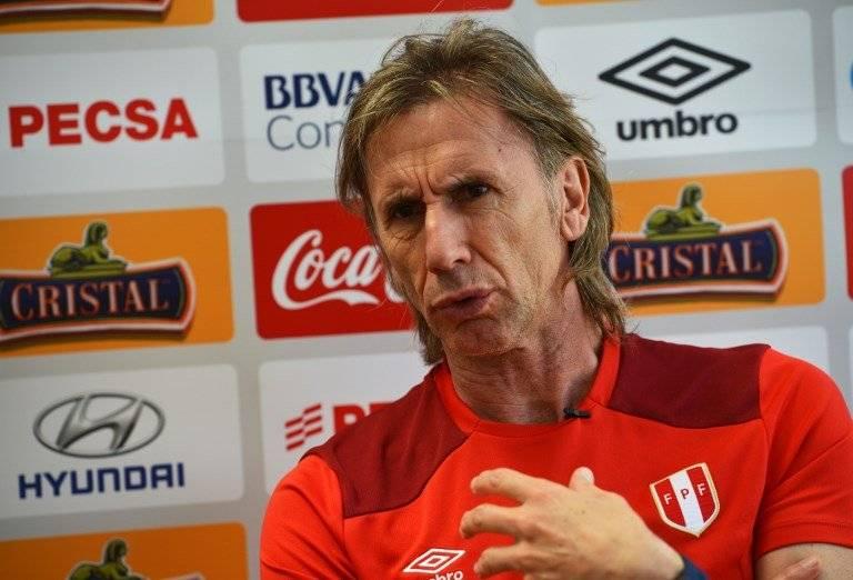 El argentino Ricardo Gareca, técnico de Perú