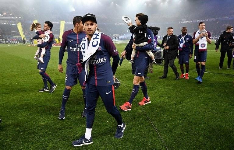 Neymar ha celebrado el título del PSG