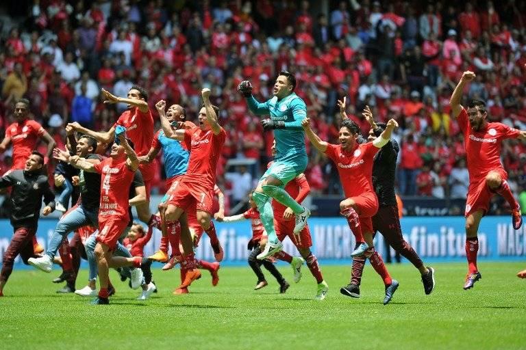 Así celebraron su pase a la final los jugadores de Toluca