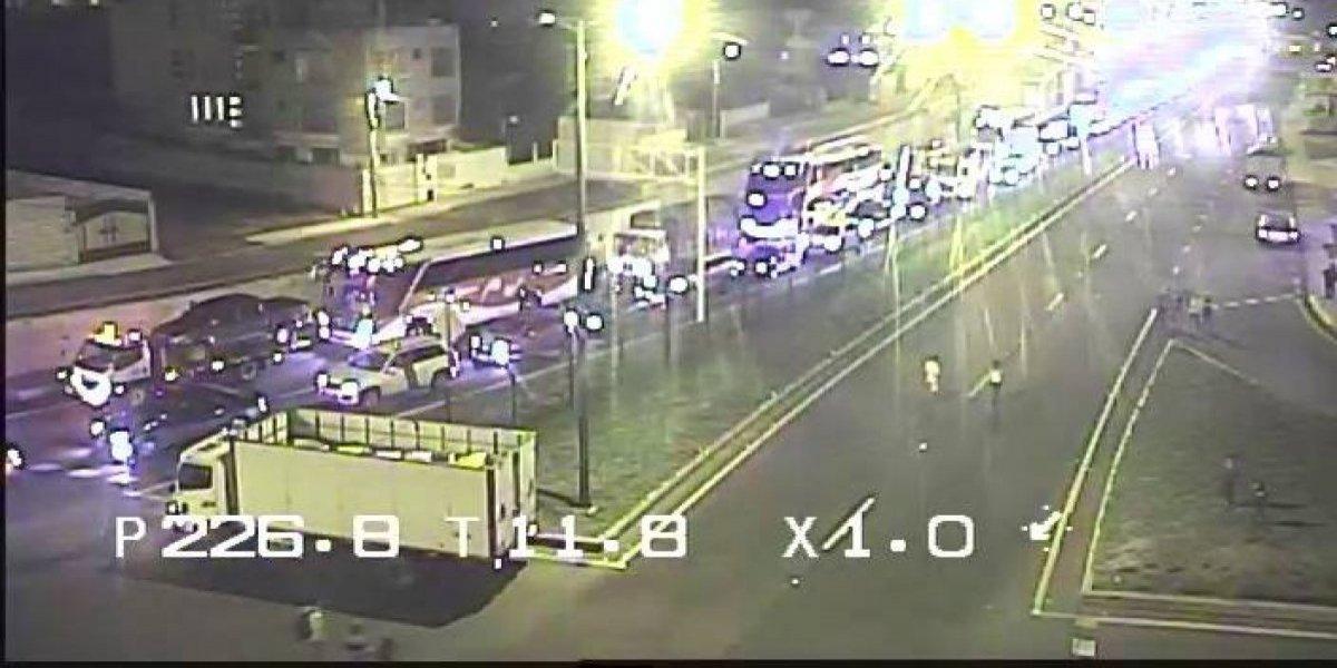 Se registró accidente de tránsito en la Panamericana Norte