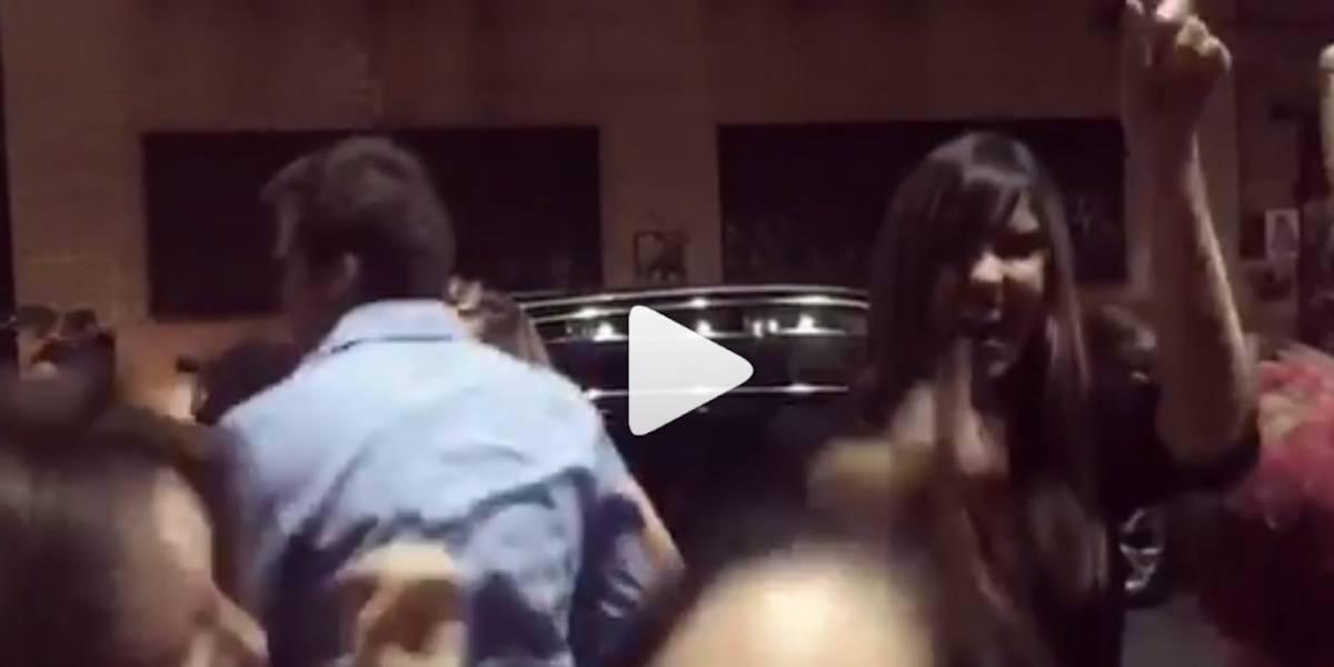 Paulina Vega prendió la fiesta en calles de Nueva York