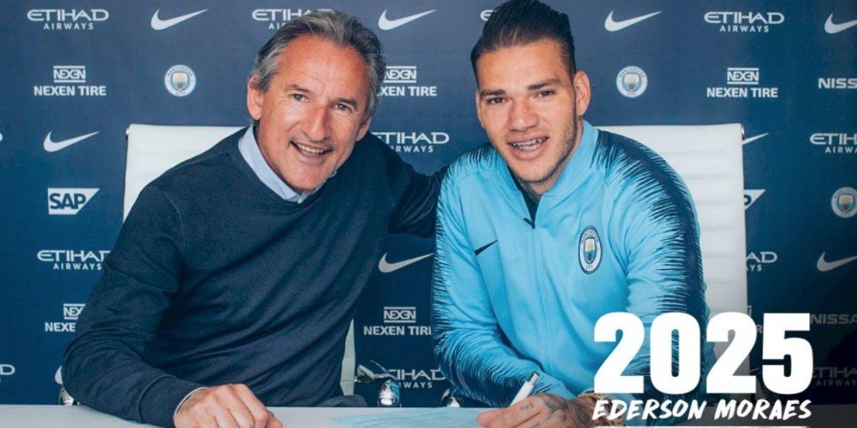 Ederson para siempre: el brasileño renovó hasta 2025 con Manchester City