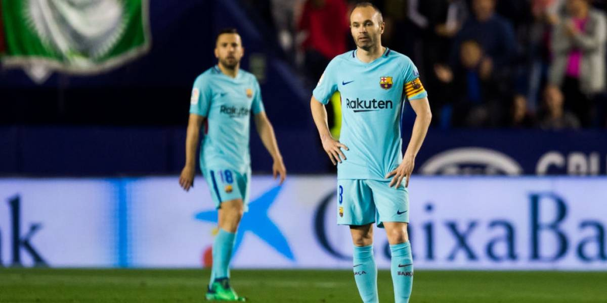 Manita del Levante y chao al invicto del Barcelona en la Liga española