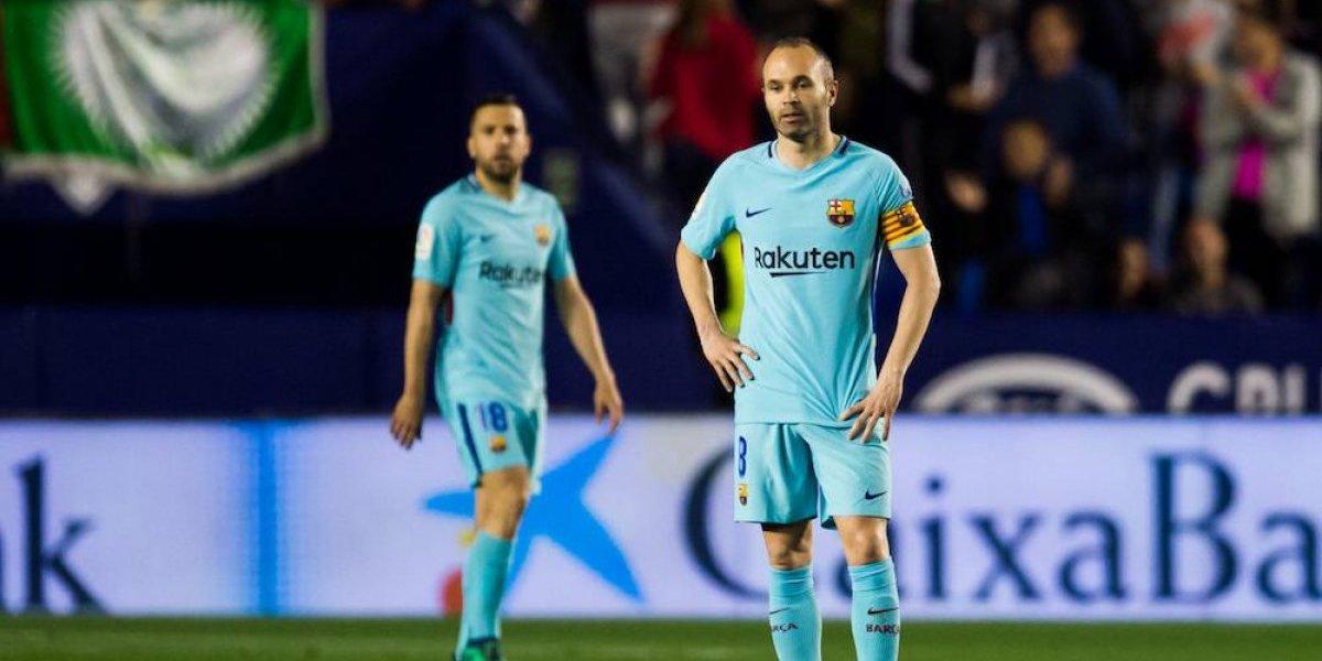 Barcelona pierde el invicto ante el Levante