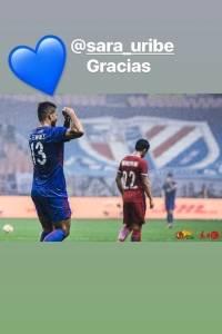 Fredy Guarín le agradeció a Sara Uribe