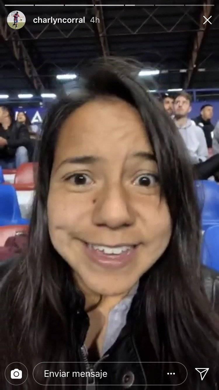 Charlyn Corral disfrutó el triunfo de Levante sobre Barcelona