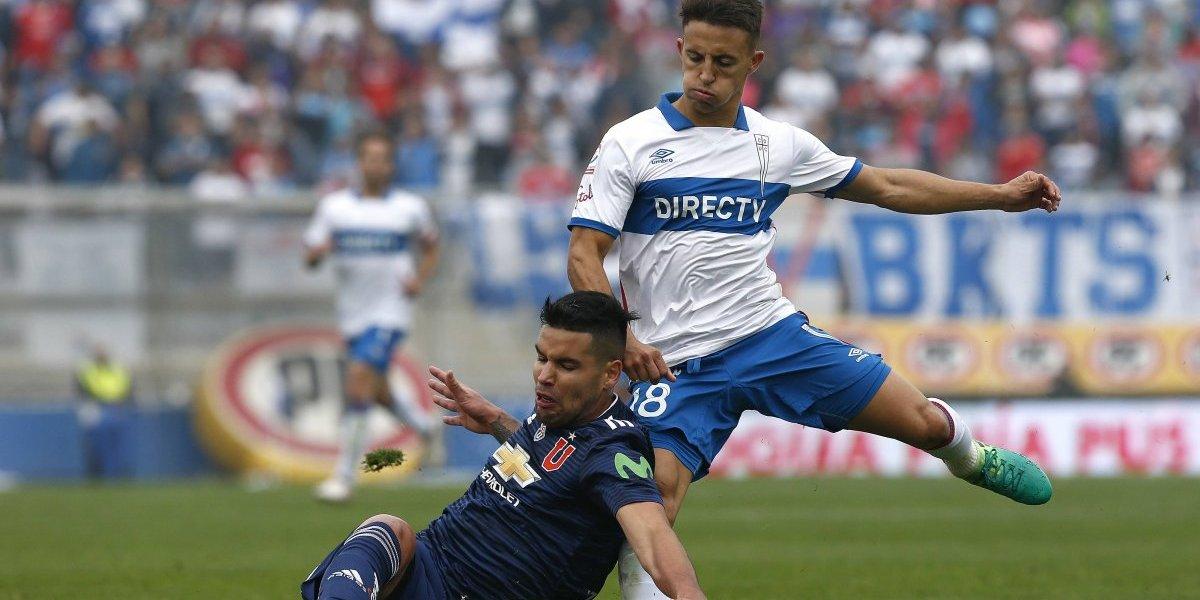 """Contreras reconoció la mano en el Clásico Universitario: """"Queda a criterio del árbitro si es cobrarle o no"""""""