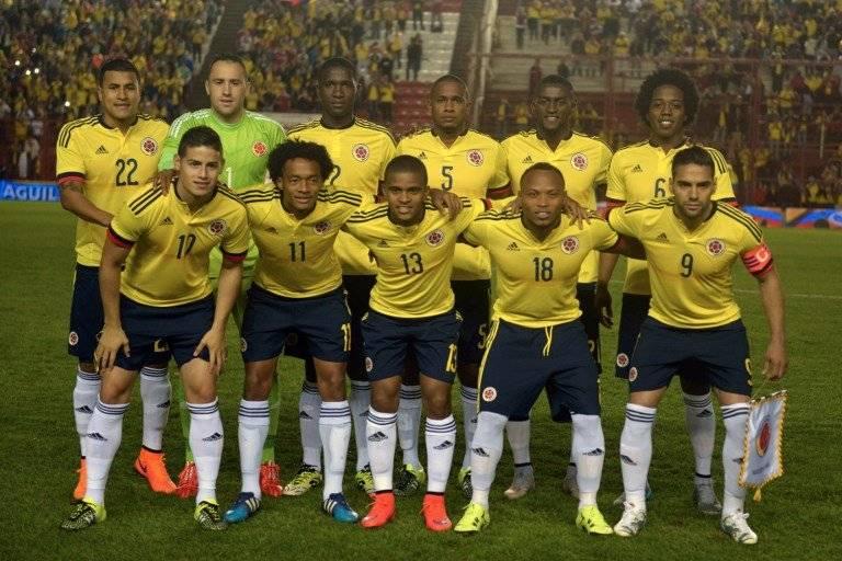 Colombia antes de un partido de eliminatoria
