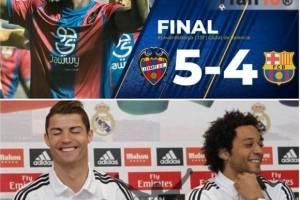 Los madridistas gozaron con la derrota del Barcelona