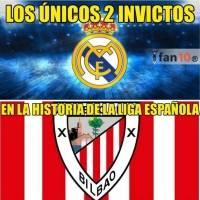 Solo Real Madrid y Athletic de Bilbao han sido campeones invictos en España