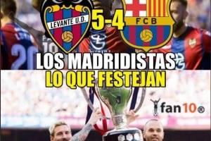 La afición del Madrid celebró