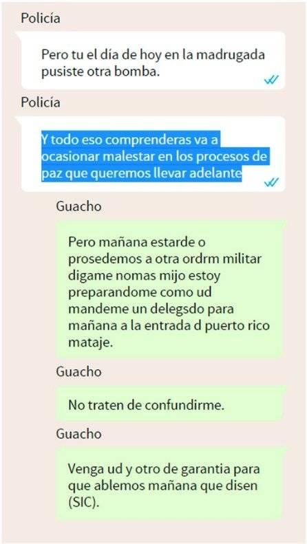 Guacho envía mensajes de amenazas Cortesía UNIVISIÓN