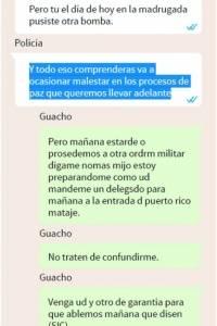 Guacho envía mensajes de amenazas