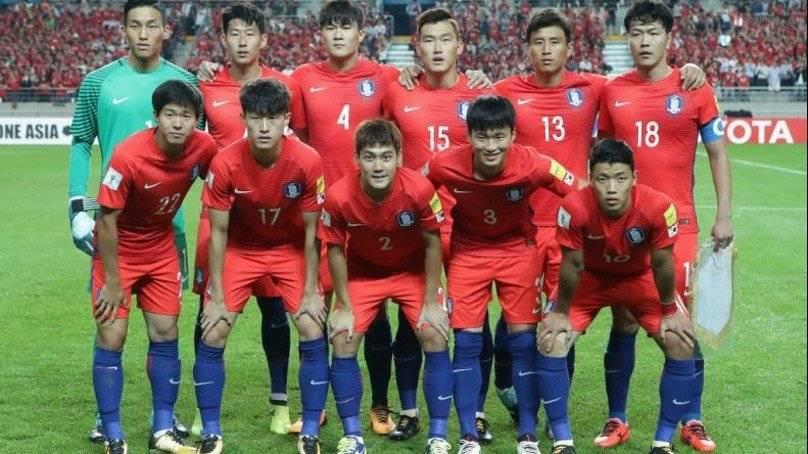 El seleccionado coreano momentos antes de un encuentro