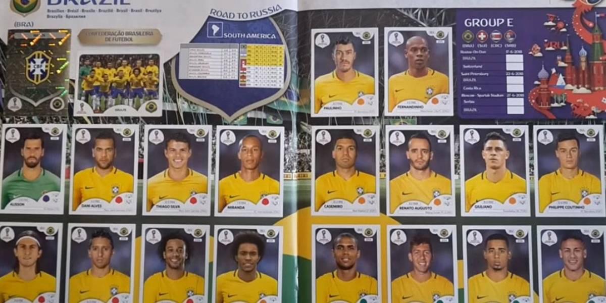 Daniel Alves e Giuliano desfalcam o álbum da Copa