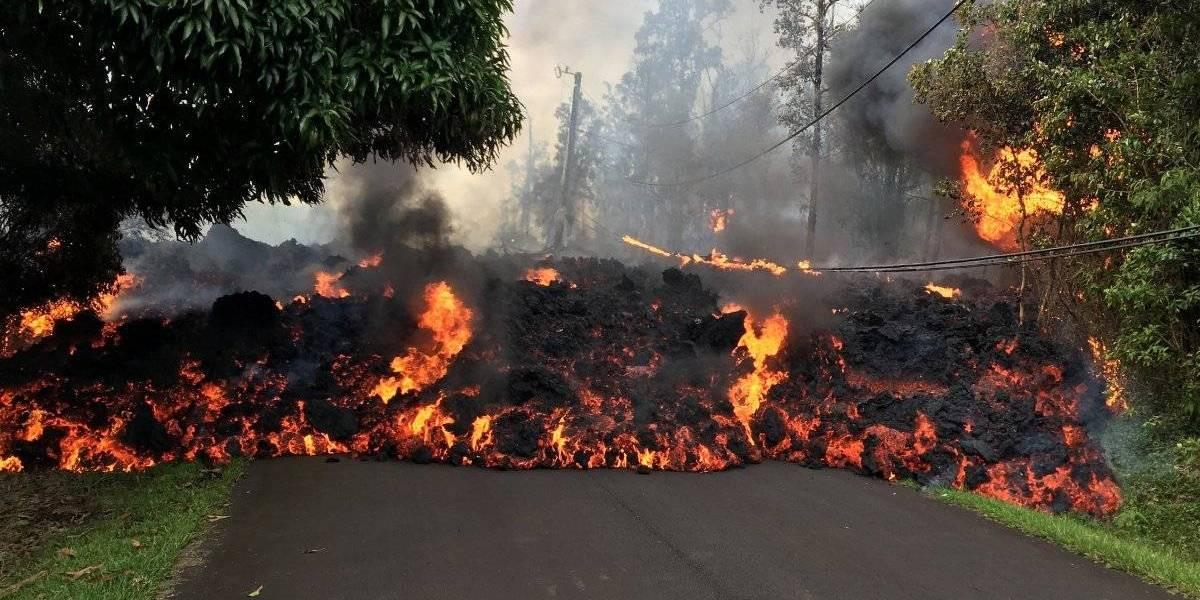 Transmiten en vivo la erupción del volcán Kilauea en Hawái
