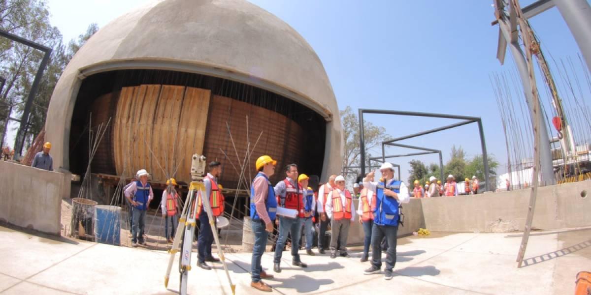 Nuevo planetario de Guadalajara lleva avance de 65%