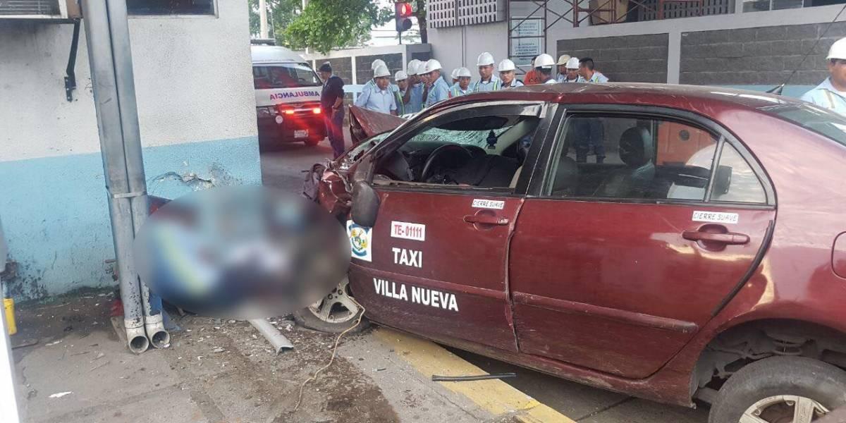 Tres fallecidos tras accidente de tránsito en Portuaria Quetzal