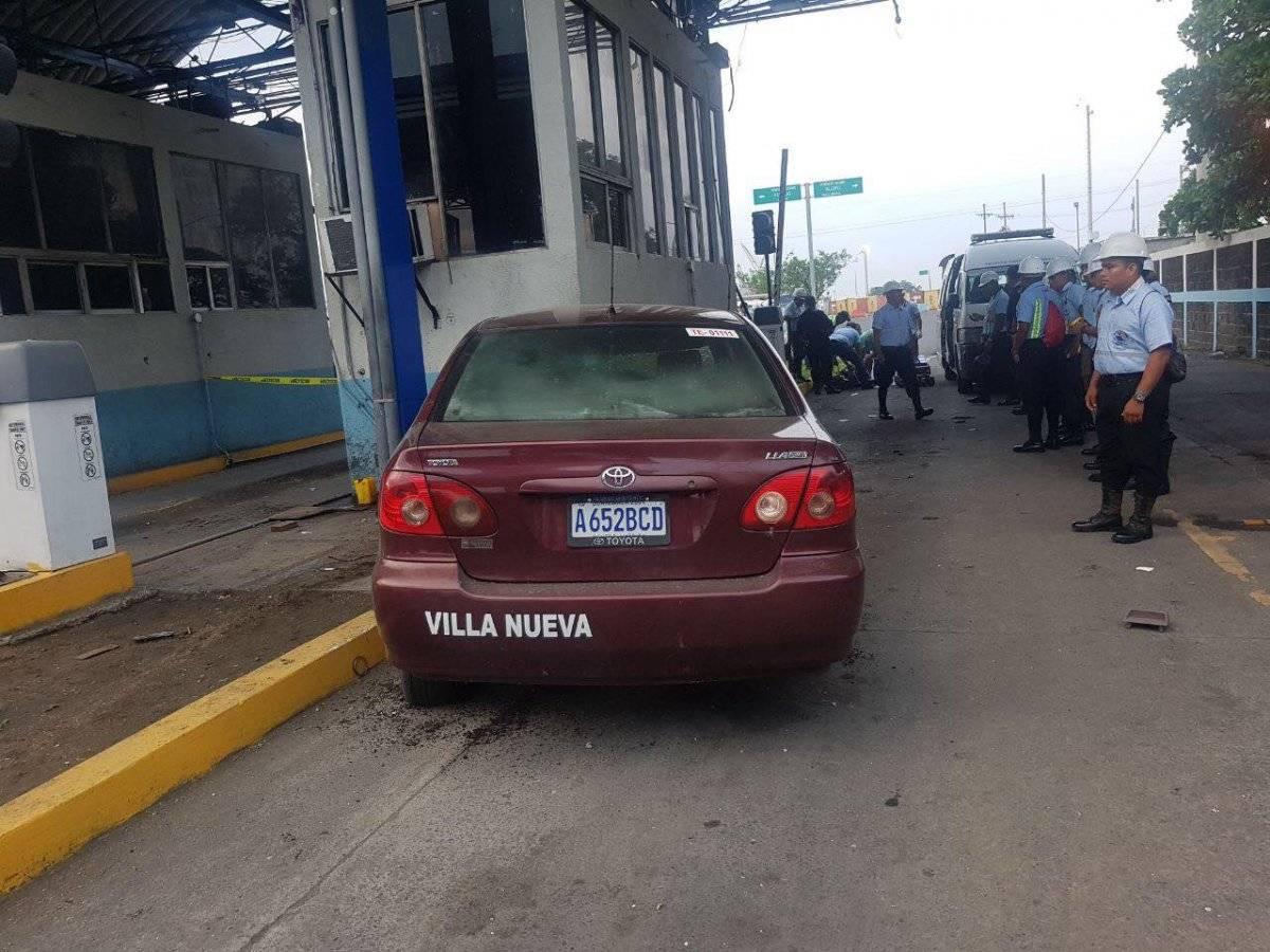 policías atropellados en Puerto Quetzal