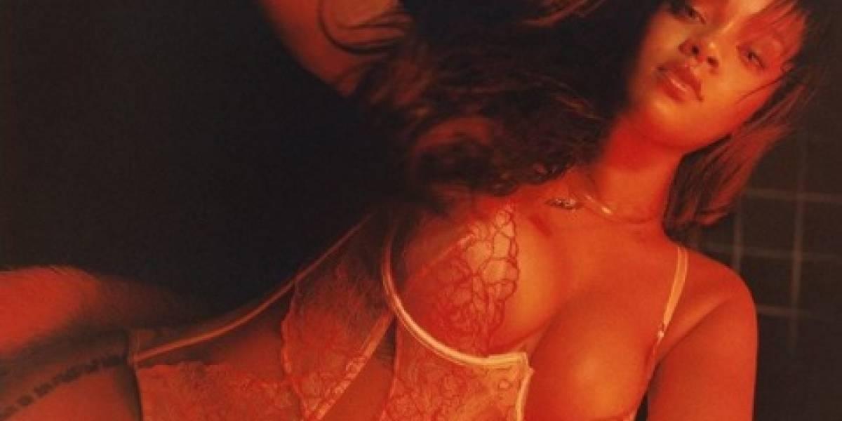 Rihanna modela su nueva línea de lencería