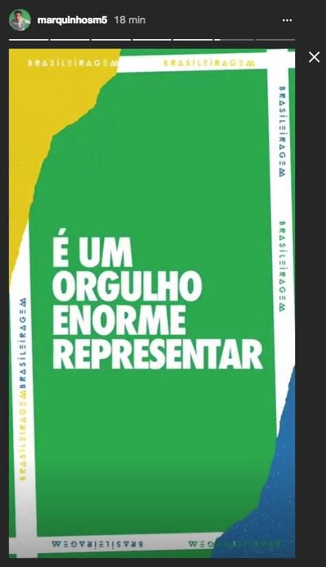 stories marquinhos convocação copa