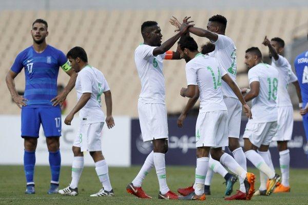 Goles de Arabia Saudita vs Grecia partido amistoso
