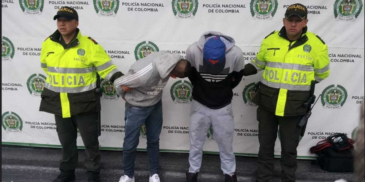 Así fue la captura de dos delincuentes que pretendían robar un casino en Bogotá