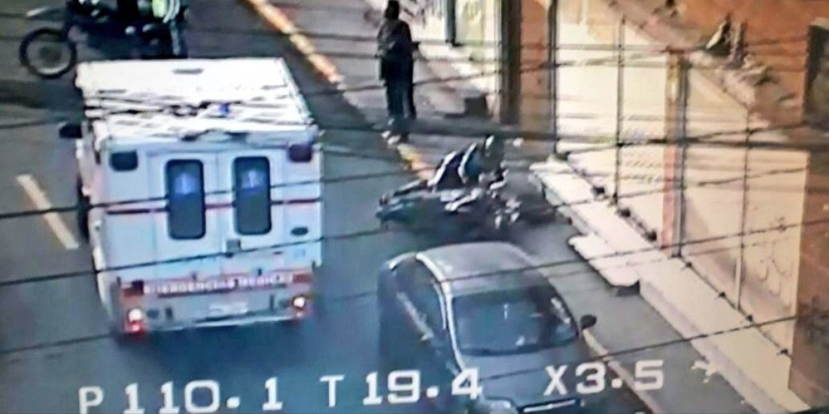 Se registró accidente de tránsito en el sector de San Bartolo, sur de Quito
