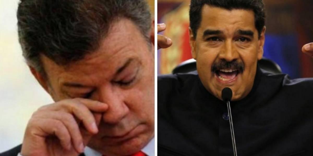 """La razón por la que Maduro llamó """"imbécil"""" a Santos"""