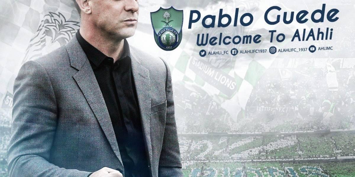 Pablo Guede es el nuevo DT del Al Ahli