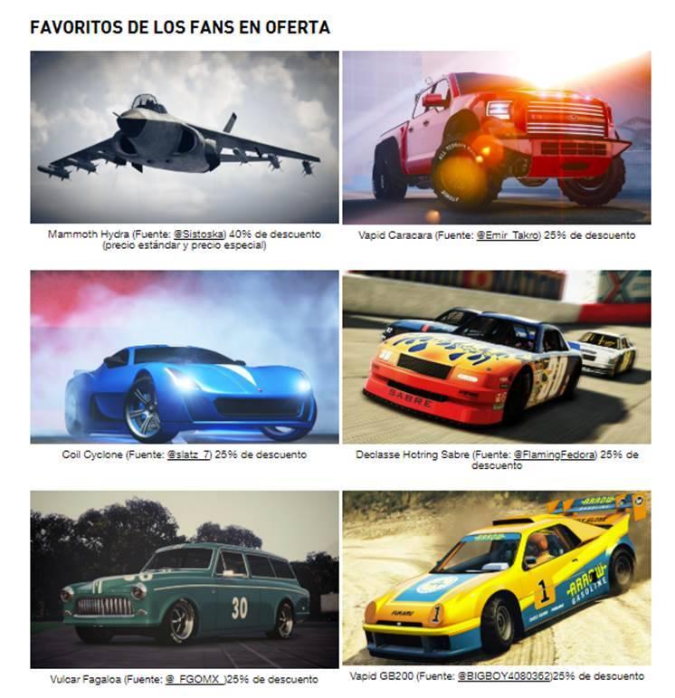 GTA Online Descuentos