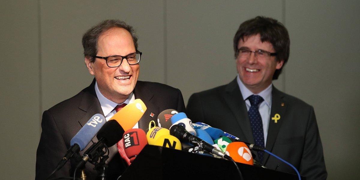 Presidente electo de la Generalitat se reúne con Carles Puigdemont