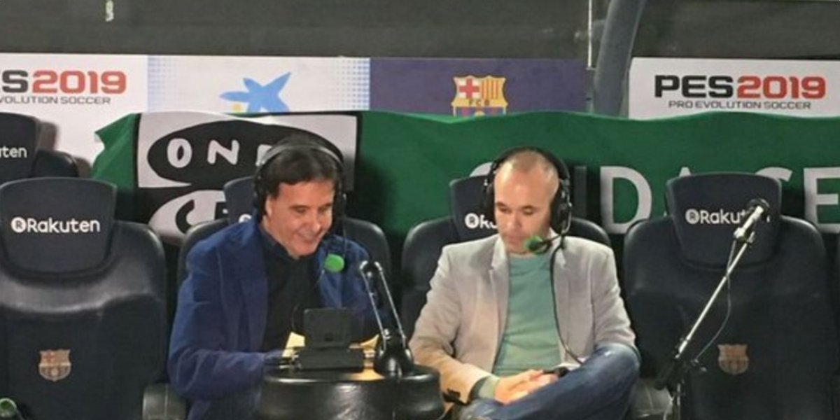 VIDEO. Once heridos durante entrevista a Iniesta tras derrumbarse una grada