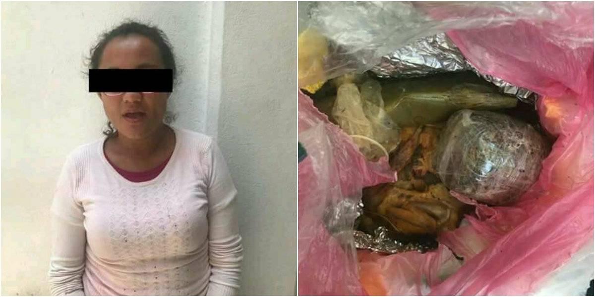Detienen a hija de candidata de Morena por intentar meter marihuana a un penal