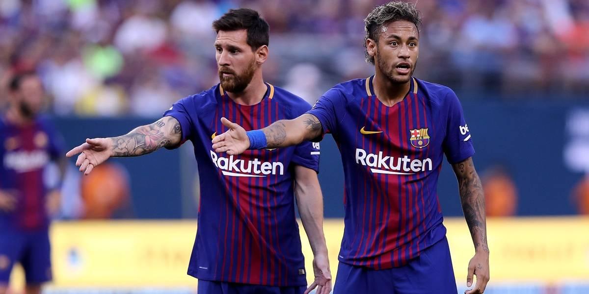 Neymar no Real Madrid seria grande golpe para o Barcelona, diz Messi