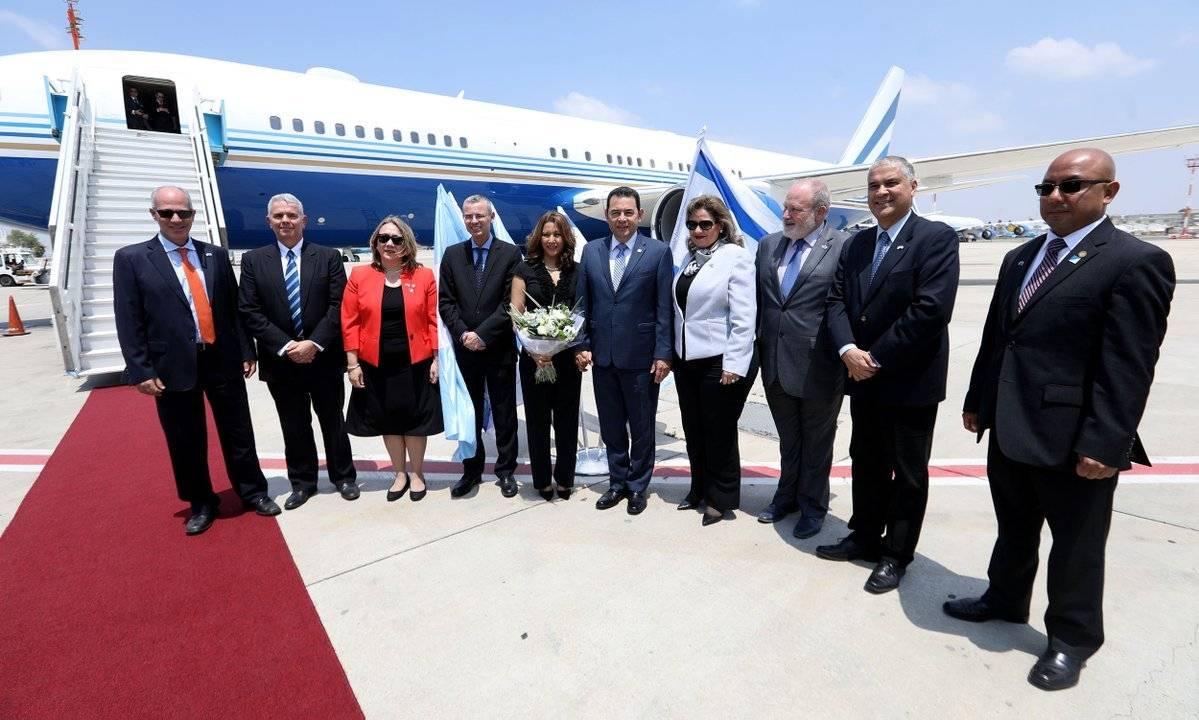 presidente Jimmy Morales llega a Israel