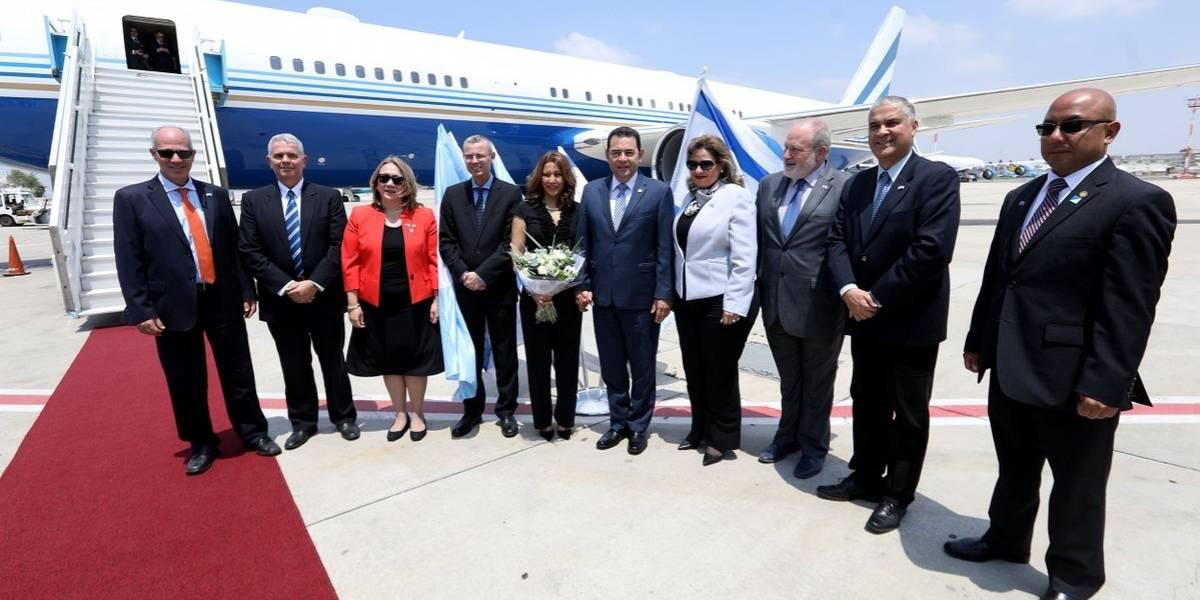 Delegación oficial de Guatemala llega a Israel para traslado de embajada a Jerusalén