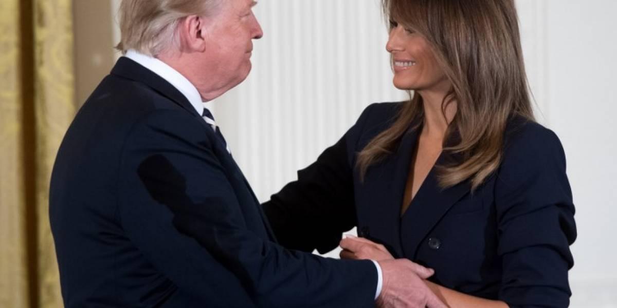 Trump habla sobre el estado de salud de su esposa tras la operación a la que fue sometida