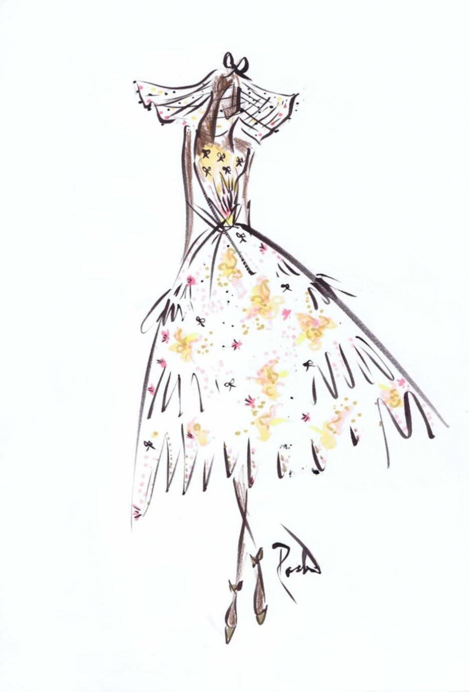 Se Meghan Markle seguir a dica das estilistas Kate e Laura Mulleavy, da Rodarte, ela será disruptiva, com vestido de comprimento mídi e estampa colorida Divulgação/WWD