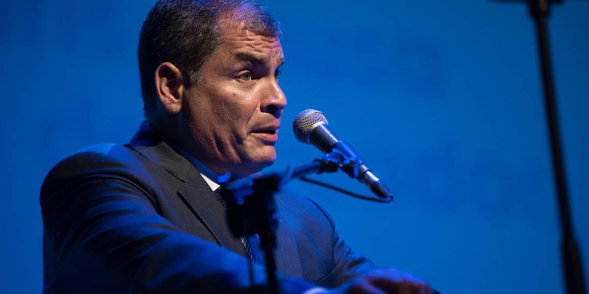 """Correa habla de una """"asamblea constituyente y desmontar la sinvergüencería"""""""