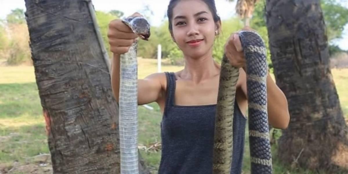 Mujer desollaba y comía animales en peligro de extinción para publicar videos en YouTube
