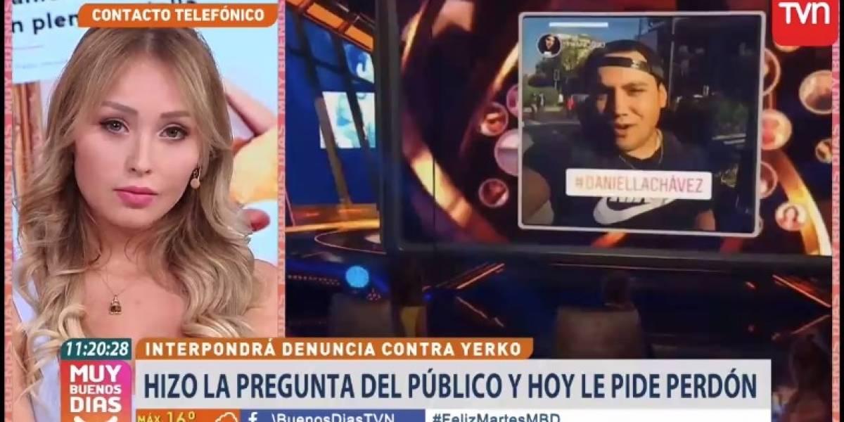 """Autor de """"La Pregunta del Pueblo"""" se disculpó con Daniella Chávez y aseguró que """"estaba totalmente pauteada"""""""