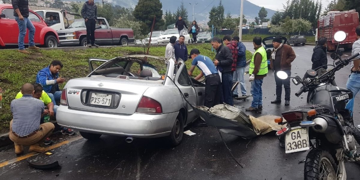 Se registró accidente de tránsito en el sector de Monjas, Quito