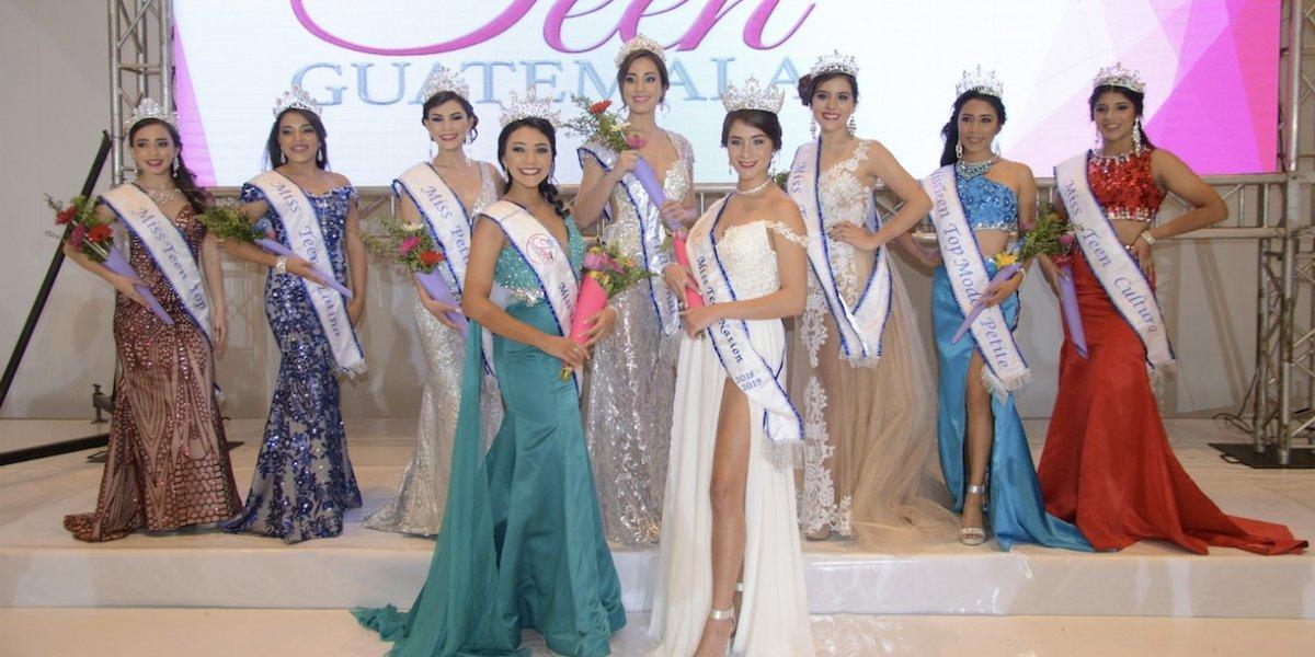 ¡Insólito! El certamen Miss Teen Guatemala coronó a todas sus participantes