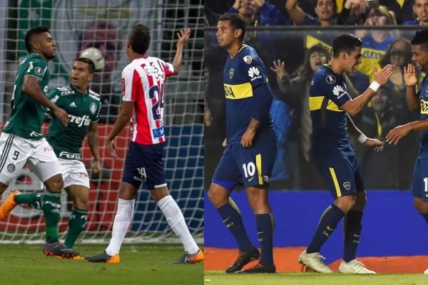 Goles de Palmeiras VS Junior de Barranquilla Copa Libertadores