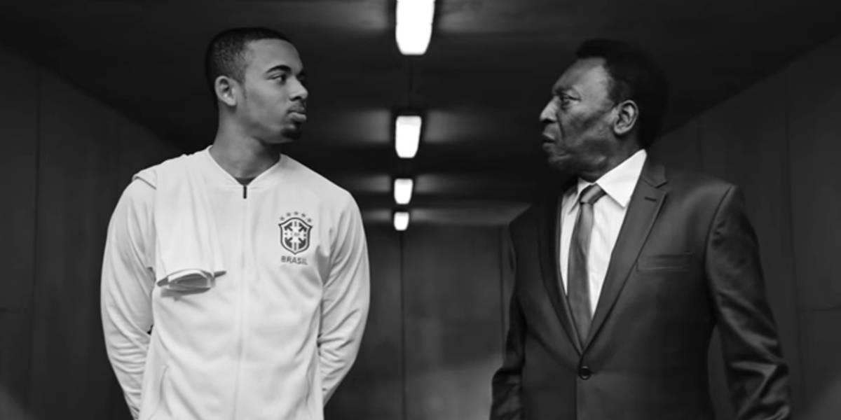 Pelé diz que se vê em Gabriel Jesus em comercial para a Copa da Rússia