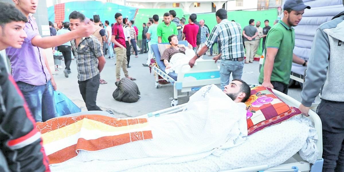 Gaza queda colapsada con hospitales desbordados