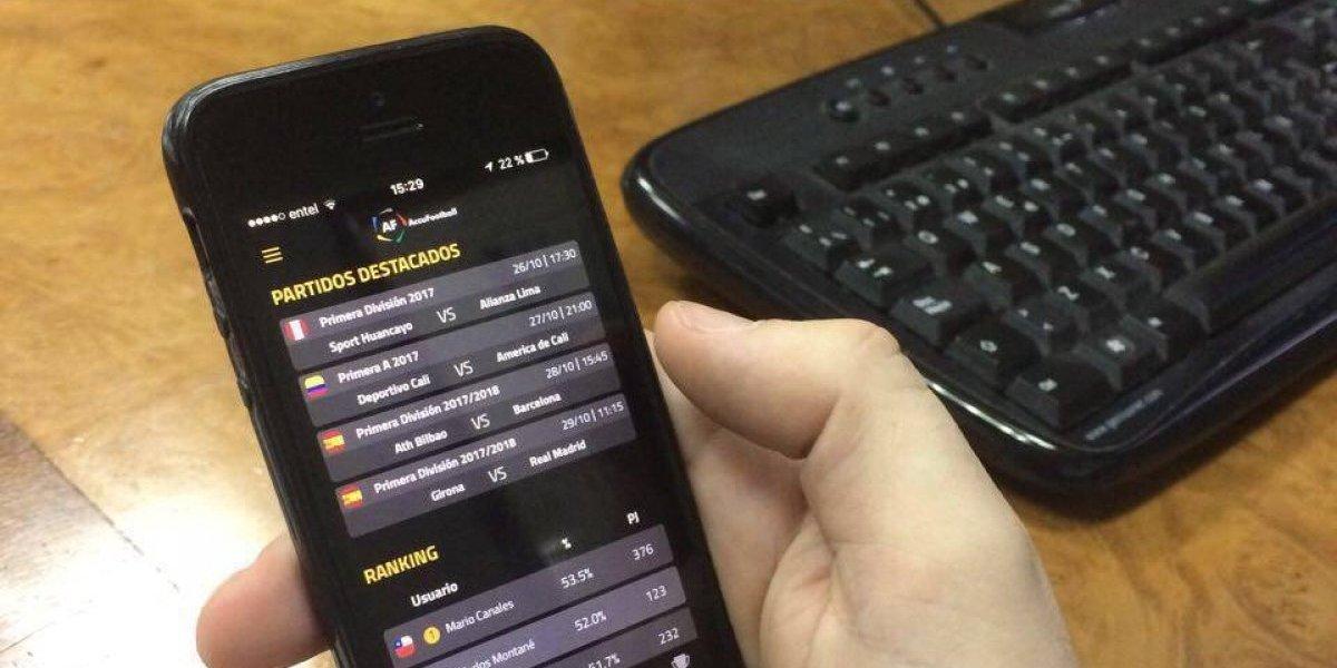 Accufootball: La app donde no se apuesta, pero se juega gratis, se gana y se venden pronósticos