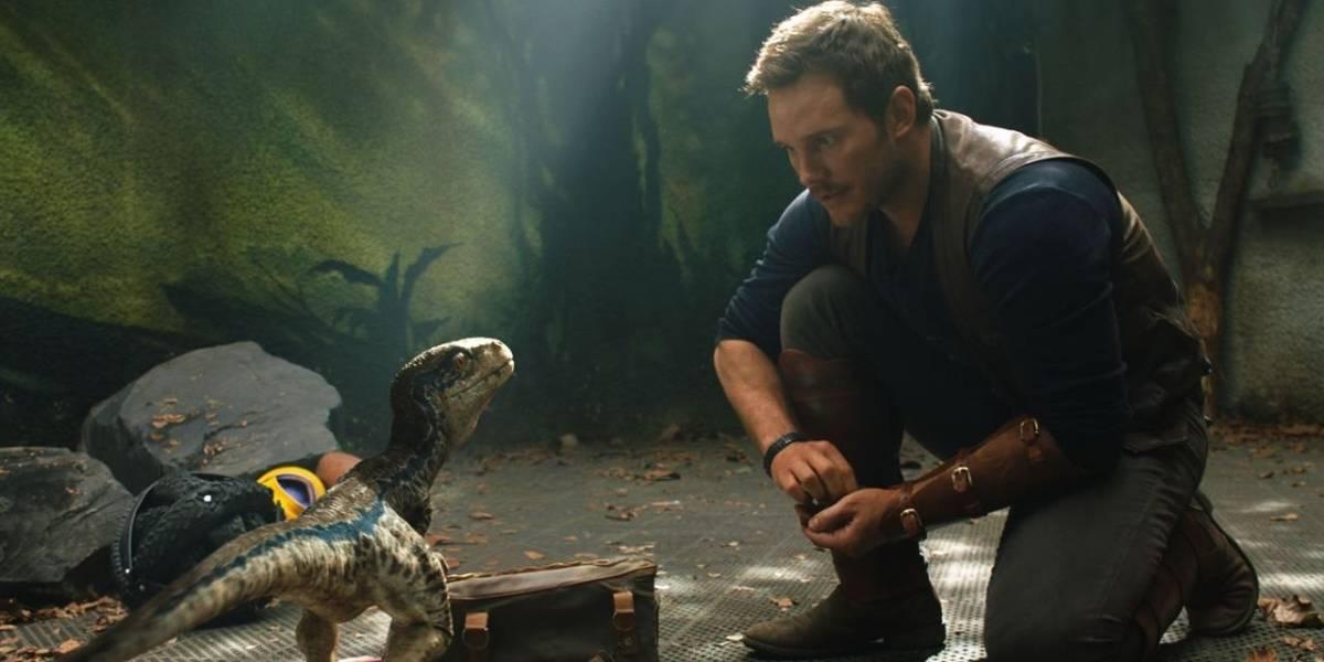 Chris Pratt tenta embarcar em avião com velociraptor em vídeo de Jurassic World 2